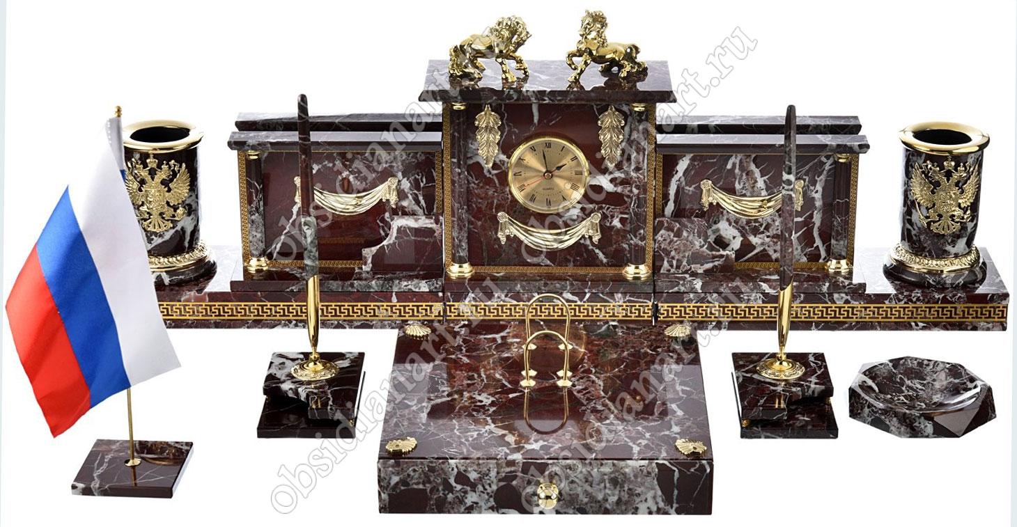 Офисный набор руководителя из камня «Валенсия»