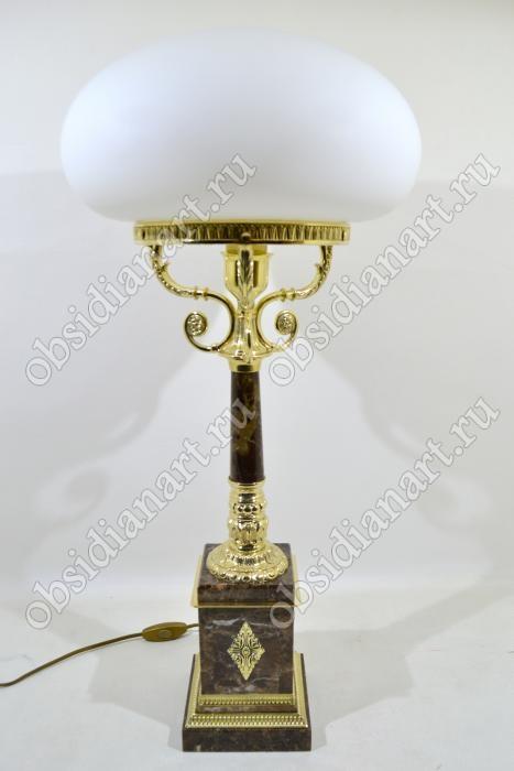 Настольная лампа из итальянского мрамора с бронзой «Элегант»