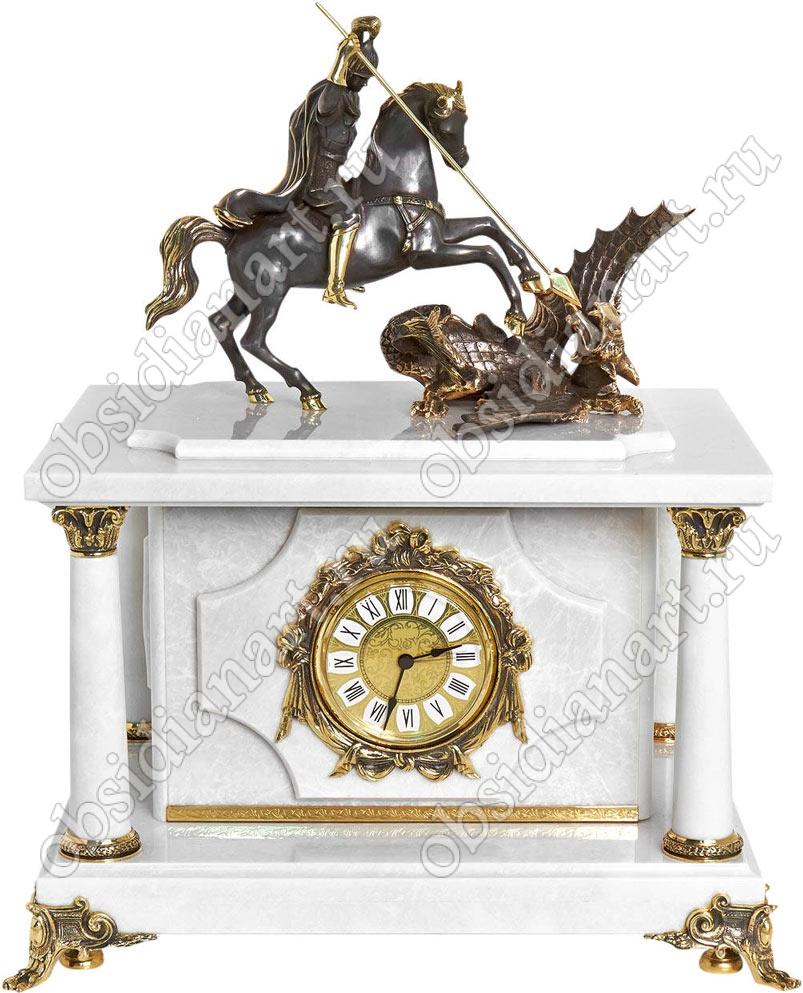 «Царский-1», Секретные сейф-часы из белого мрамора со статуэткой Георгия Победоносца из бронзы
