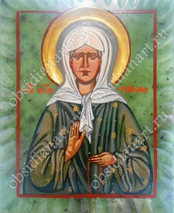 Св. Матрона Московская, нефрит