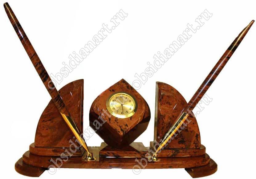 «Компакт», Каменный набор в подарок руководителю, обсидиан