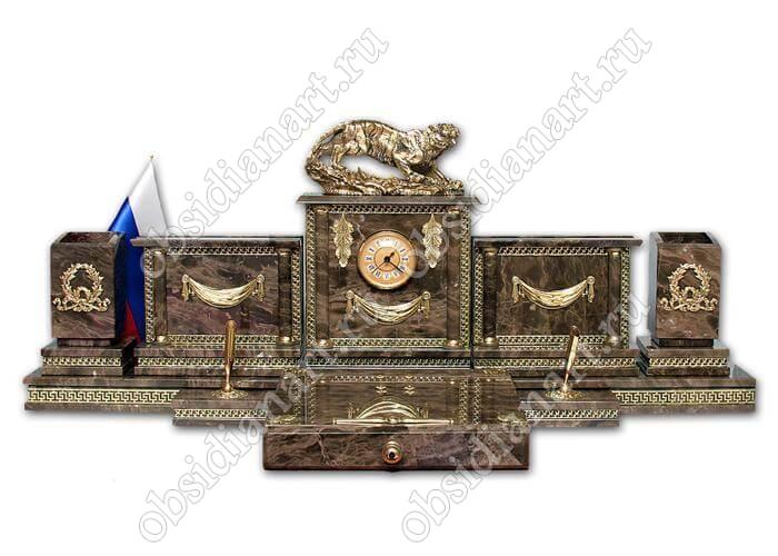 Дорогой настольный набор из итальянского мрамора «Италия»