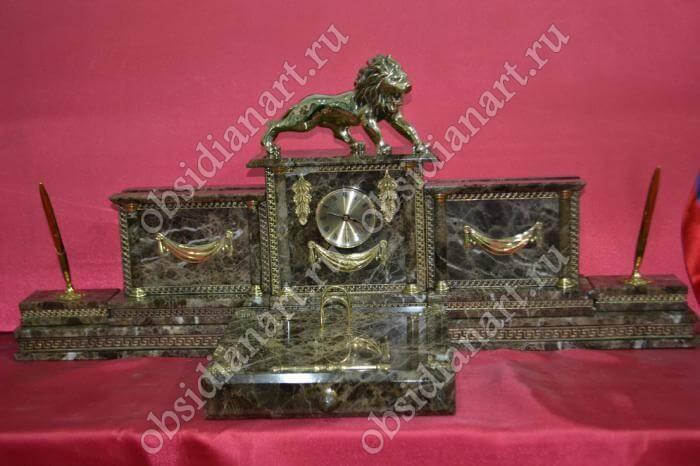 Подарочный настольный набор из итальянского мрамора «Калуга»