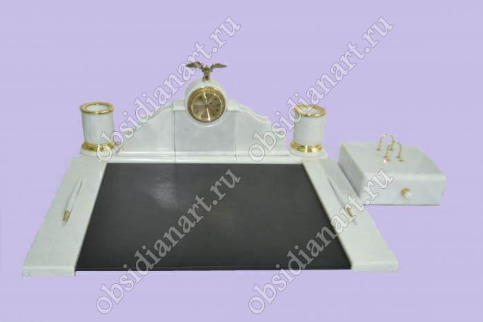 Набор письменных приборов «Тверь» из натурального камня (мрамор)