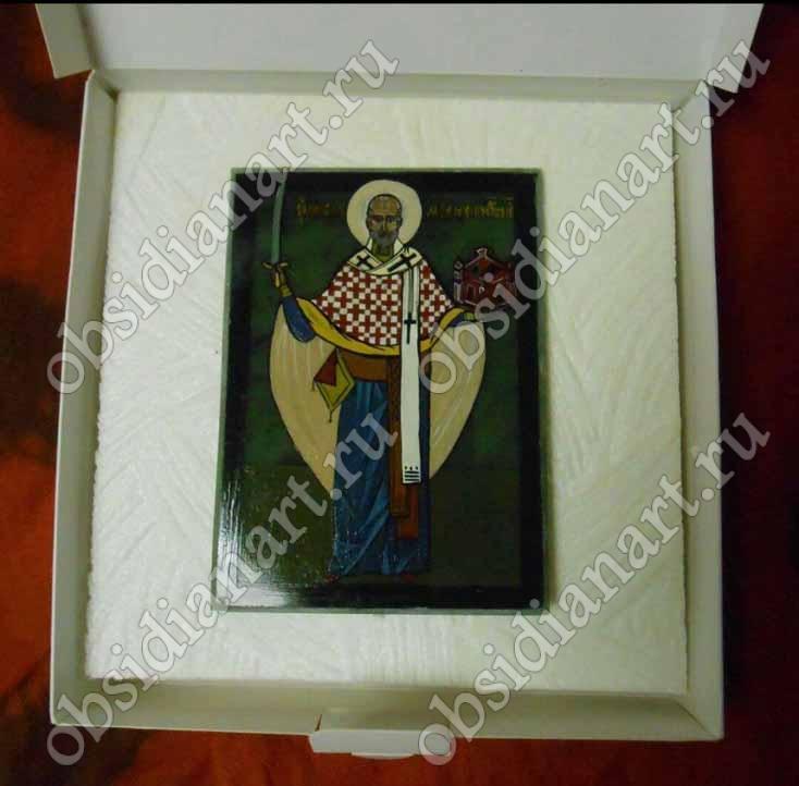 Святитель Николай Чудотворец Можайский, нефрит