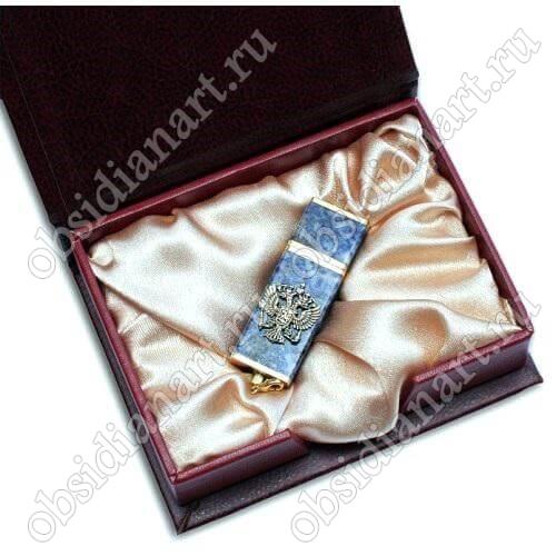 Подарочные флешки из лазурита с гербом России
