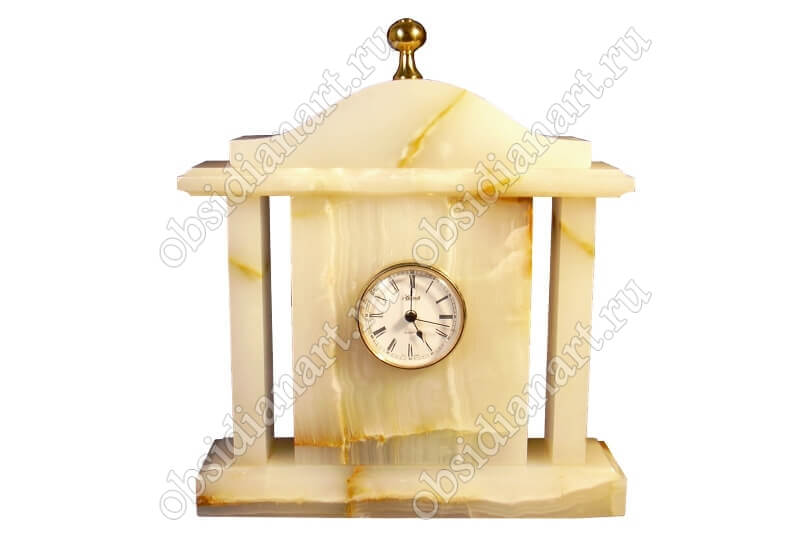 Часы «Каминные» большие из оникса