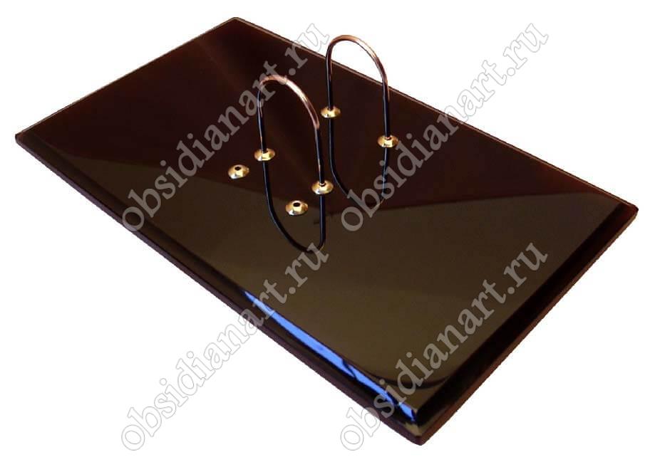 Подставка для календаря из обсидиана «Традиционная» для письменного стола руководителя