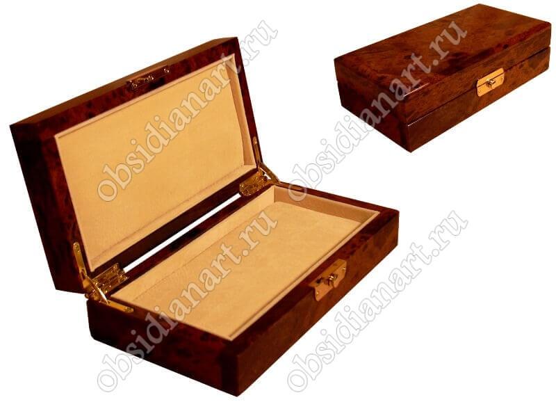Шкатулка «Кардинал» из обсидиана для ювелирных изделий