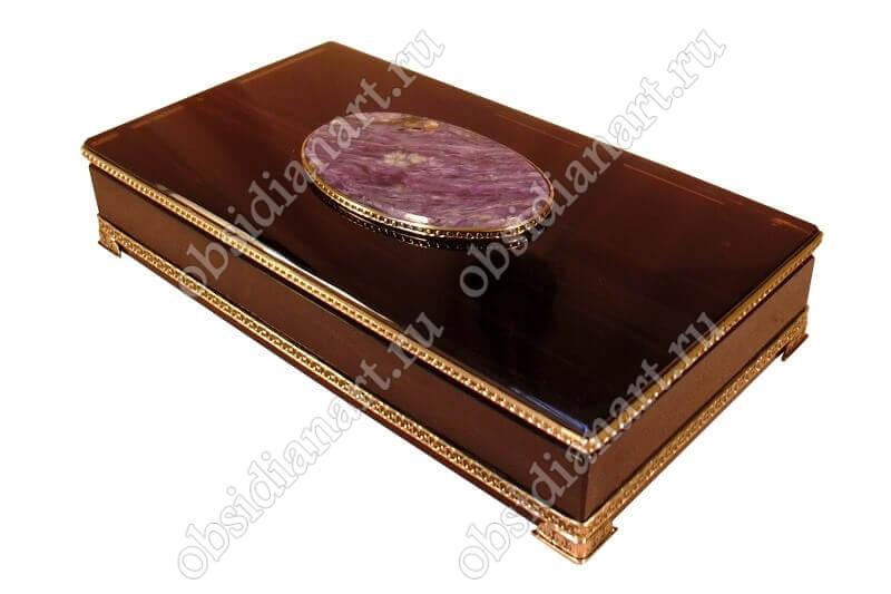 Шкатулка «Изысканность» из обсидиана для ювелирных изделий