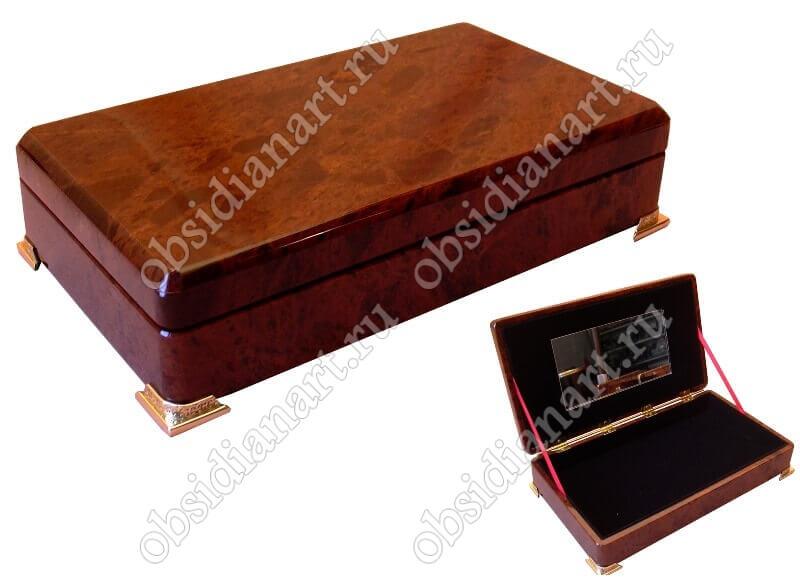 Шкатулка «Комод» из обсидиана для ювелирных изделий