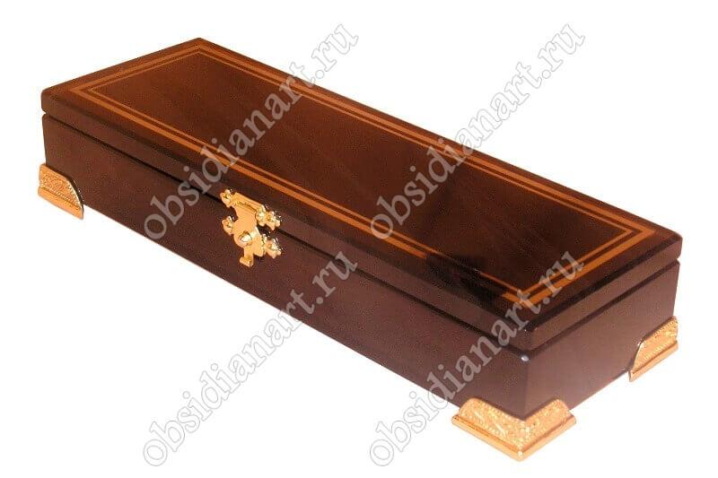 Шкатулка «Люкс» из обсидиана для ювелирных украшений