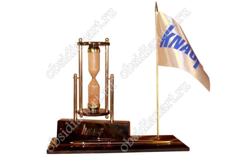 Настольный набор «Песочный» с вашим логотипом и флагом