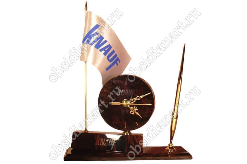 Письменный набор «Кольцо» с вашим логотипом и флагом