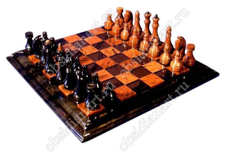 Шахматы «H8» большие из натурального камня