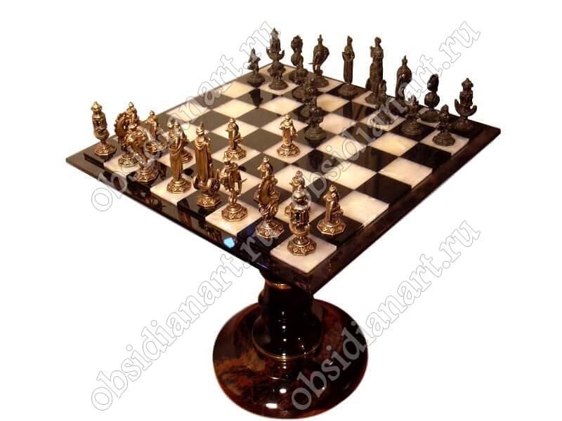 Шахматы «Бронзовое чудо» с бронзовыми фигурами