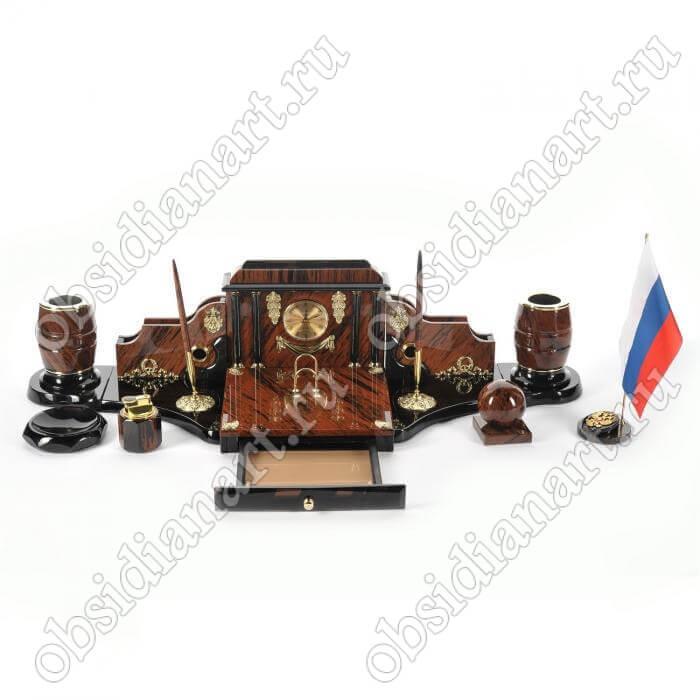 Настольный набор руководителя «Санкт-Петербург», обсидиан