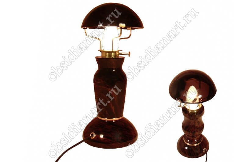 Настольная лампа «Кувшин» из обсидиана