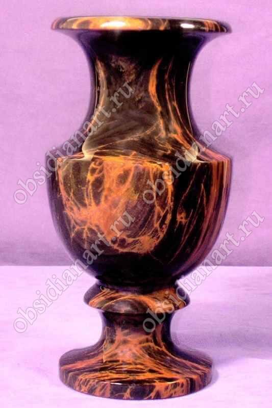 Ваза «Миледи» из полудрагоценного камня обсидиан