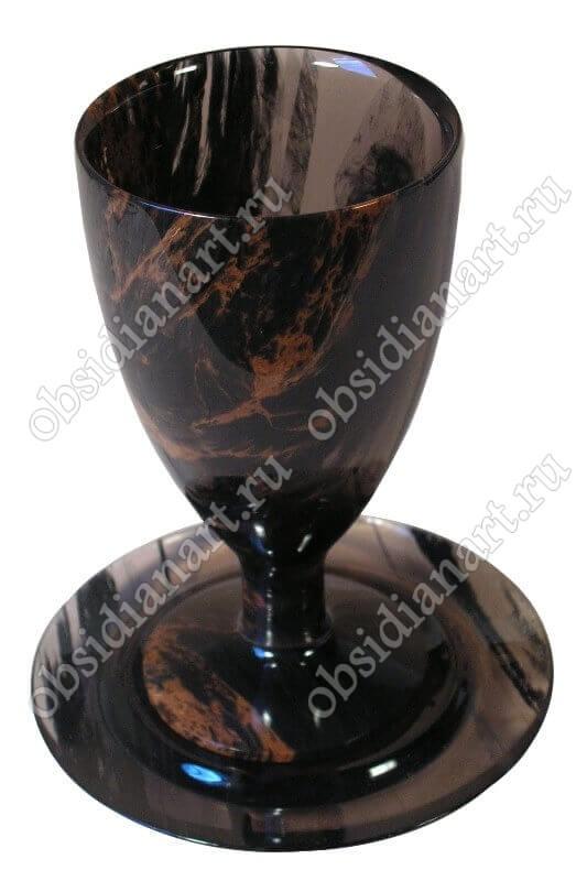 Бокал «Текила» из полудрагоценного камня обсидиан