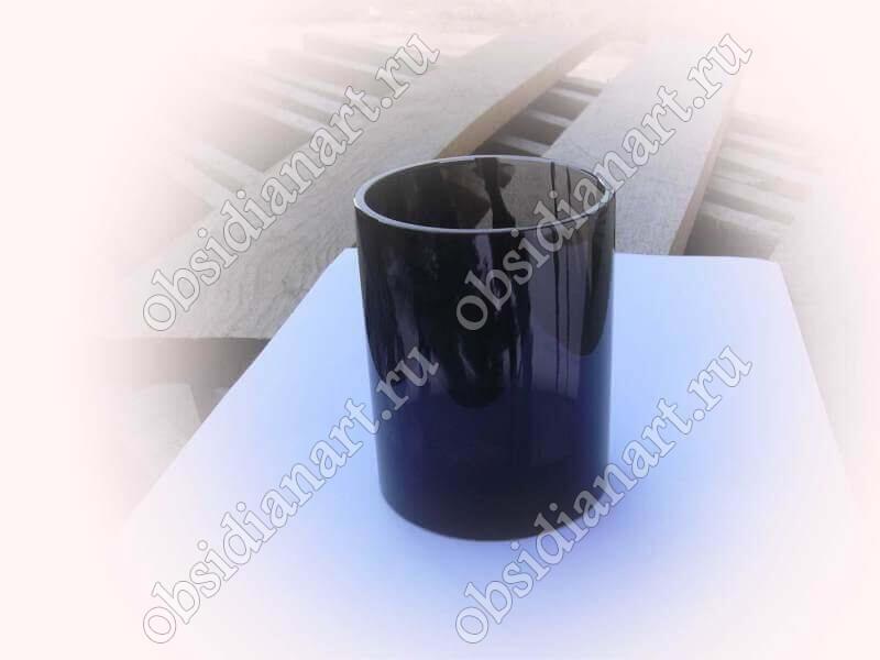 Стакан «Чай» из полудрагоценного камня обсидиан
