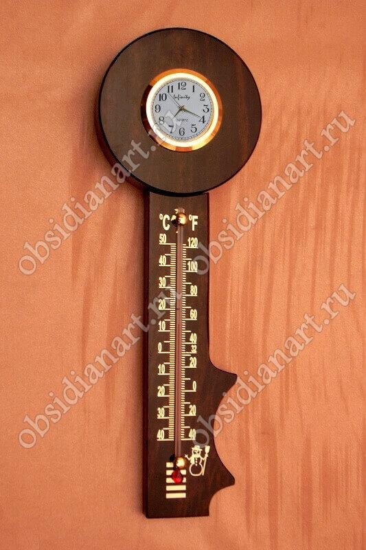 Термометр-часы настенные «Ключ»