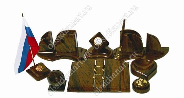 Письменный набор «Лодочка» из натурального камня