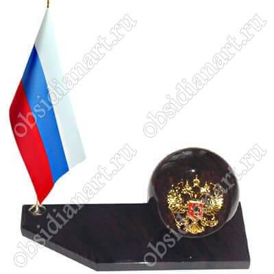 Флаг с гербом (с шаром)