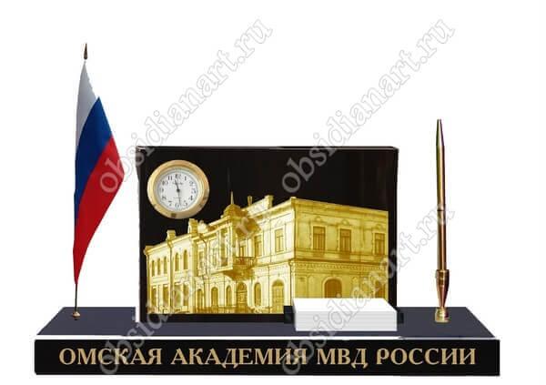 Сувенир МВД-2 из полудрагоценного камня обсидиан