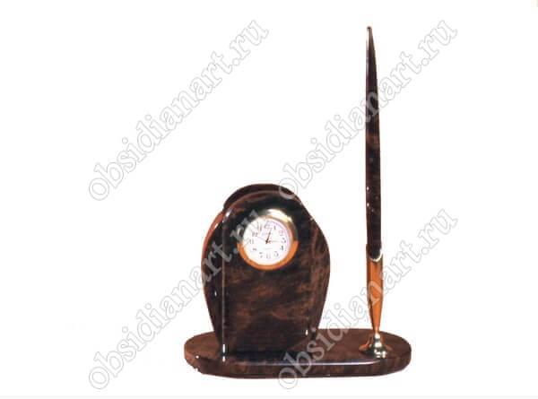 Часы и ручка из обсидиана «Секретарь А 01»