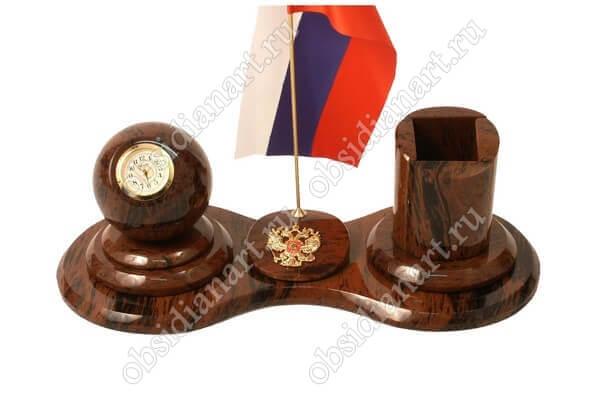 Настольный офисный набор из камня «Секретарь А 036»