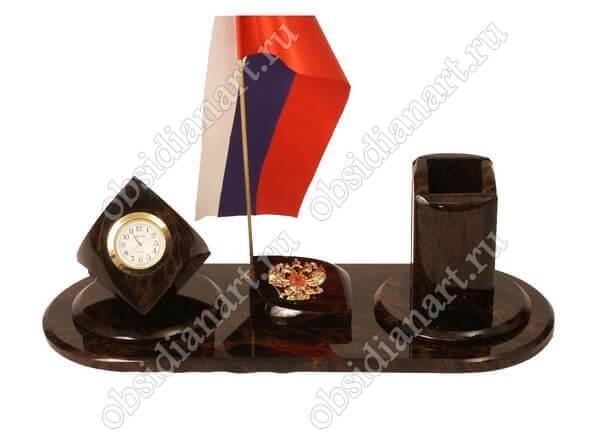 Офисный набор из обсидиана «Секретарь А 037»