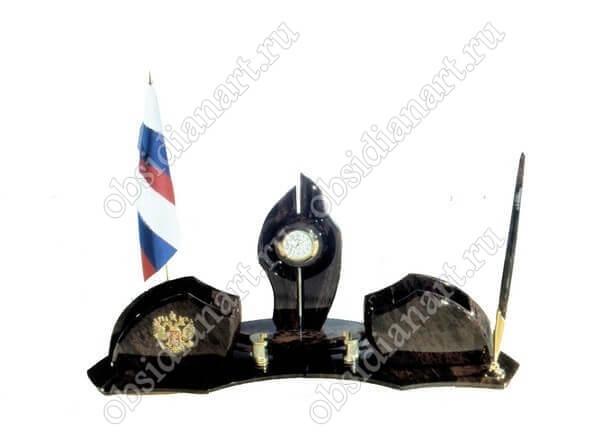 Подарочный настольный набор из обсидиана «Секретарь А 40»