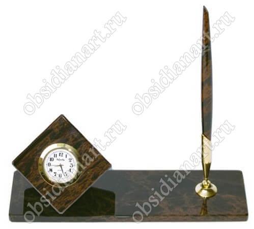 Часы «Кубик с ручкой»