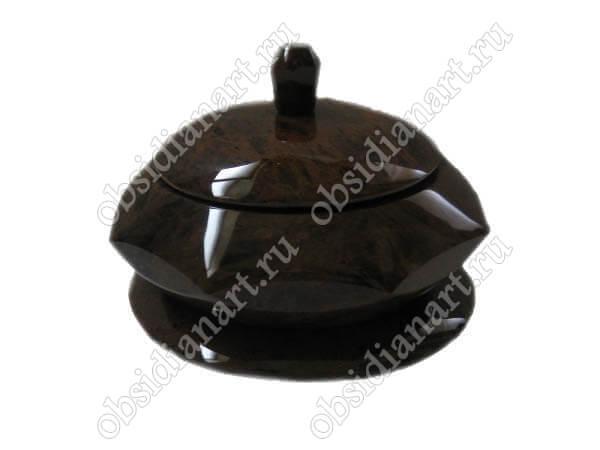 Шкатулка «Арпи» из натурального камня обсидиан