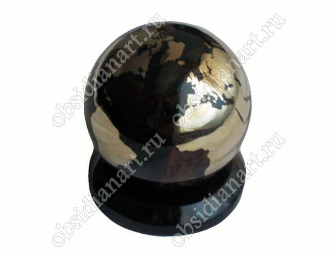 Сувенир «Земной шар» из обсидиана