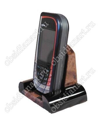 Подставка для телефона из полудрагоценного камня обсидиан