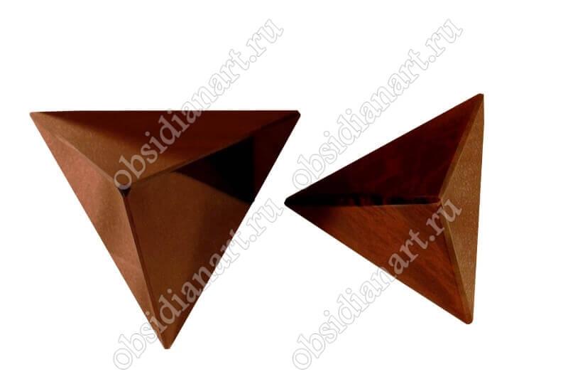 Пирамида для фен-шуй из натурального камня обсидиан