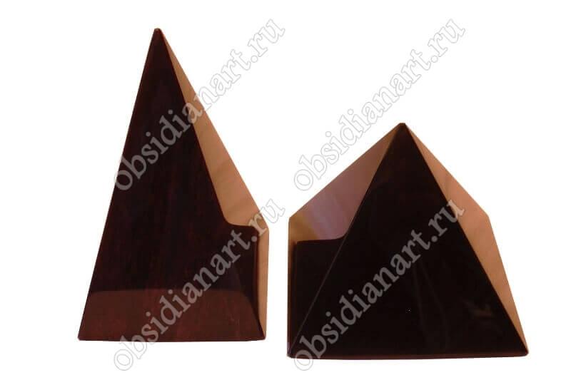 Пирамидки из натурального камня обсидиан