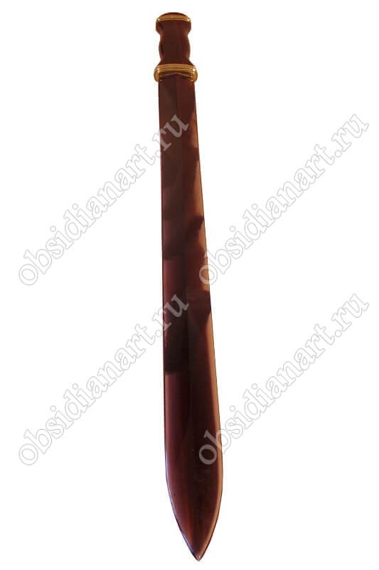 Подарочный меч из натурального камня обсидиан