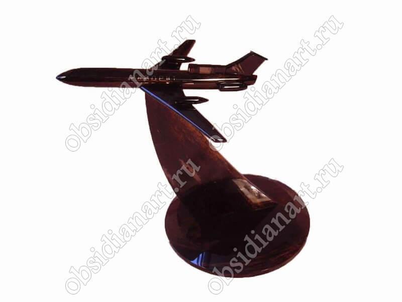 Сувенирный самолет из обсидиана