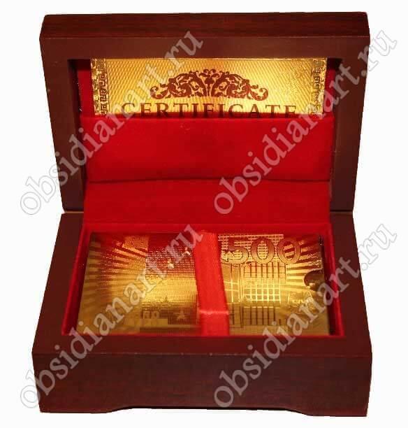 Золотая подарочная колода карт с сертификатом