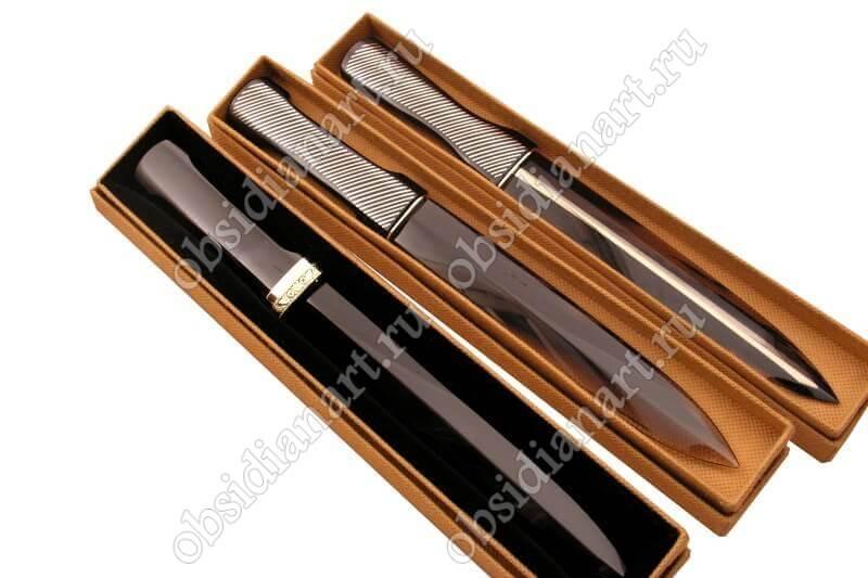 Оригинальные ножи из обсидиана (вулканическое стекло)