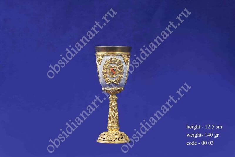 Серебряная рюмка с золочением арт.fj-0003