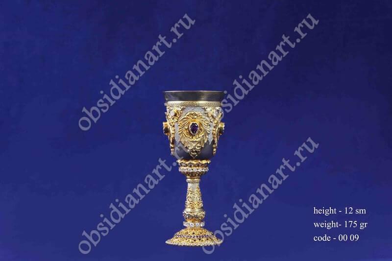 Серебряная стопка с золочением арт.fj-0009