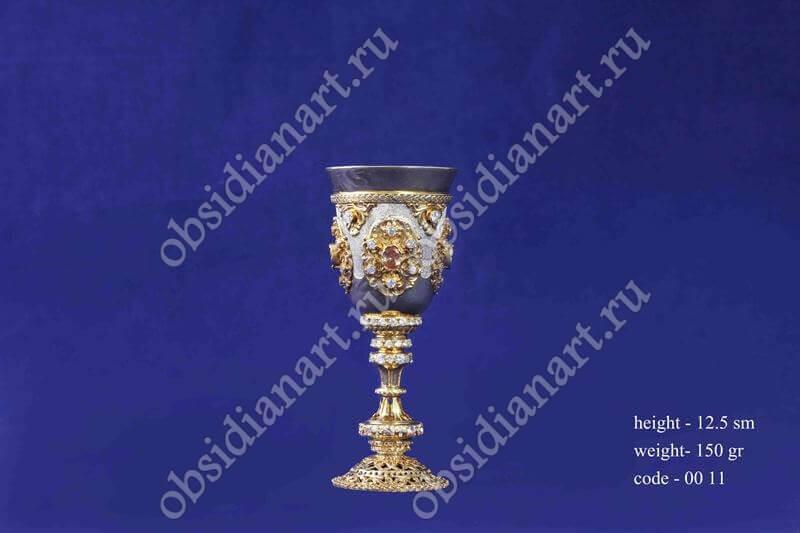 Рюмка, серебро, позолота, арт.fj-0011
