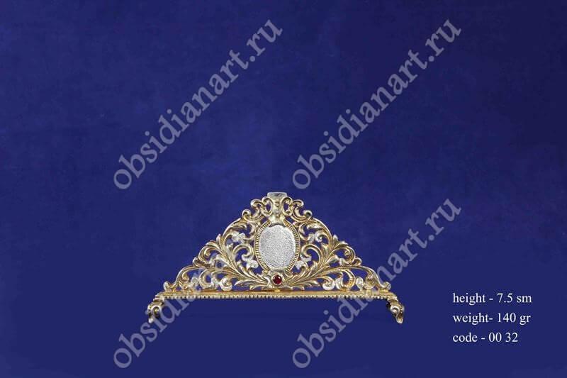 Серебряная салфетница с позолотой арт.fj-0032