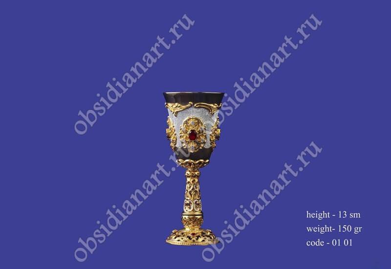 Серебряная рюмка в позолоте арт.fj-0101