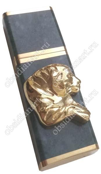 USB флешка из мрамора с бронзовой головой тигра
