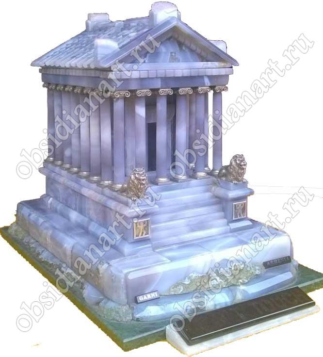 Храм Гарни, макет из полудрагоценных камней